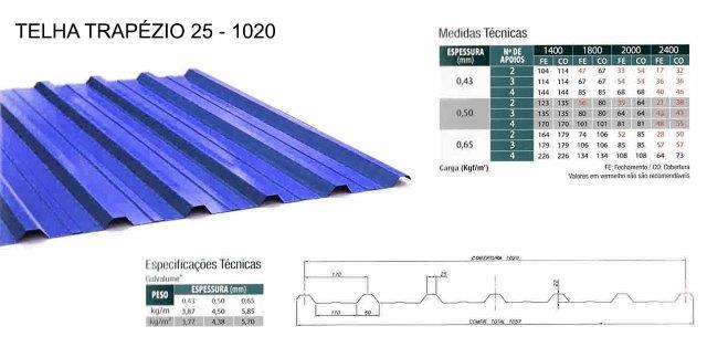 Fornecedor de telha trapezoidal